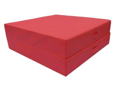 red gymnastics crash mat