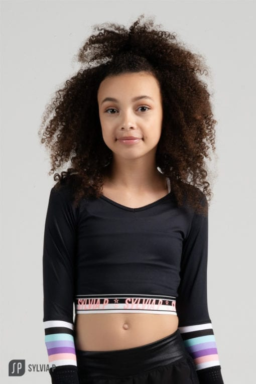 Trackside Cropped L SLV Top Front