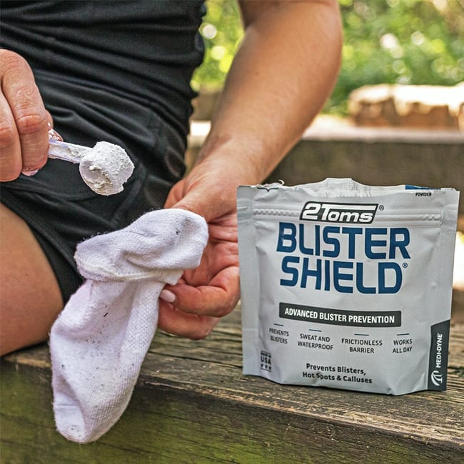 2Toms Blistershield helps protect against soar hands and feet forming blisters