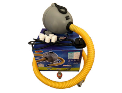 A bravo ov10 electric pump used to inflate airtracks and a dinghy