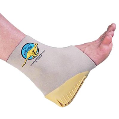 Cheetah fitted ankle support for sports injury