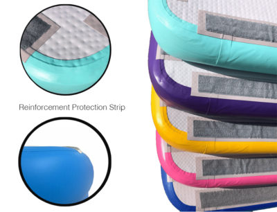 Inflatable gymnastics air track for home use and clubs
