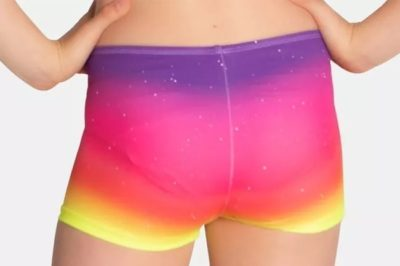 Whimsical is a girls activewear shorts by sylvia p