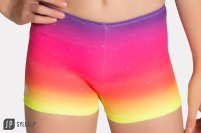 Neon Party is a girls activewear shorts by sylvia p