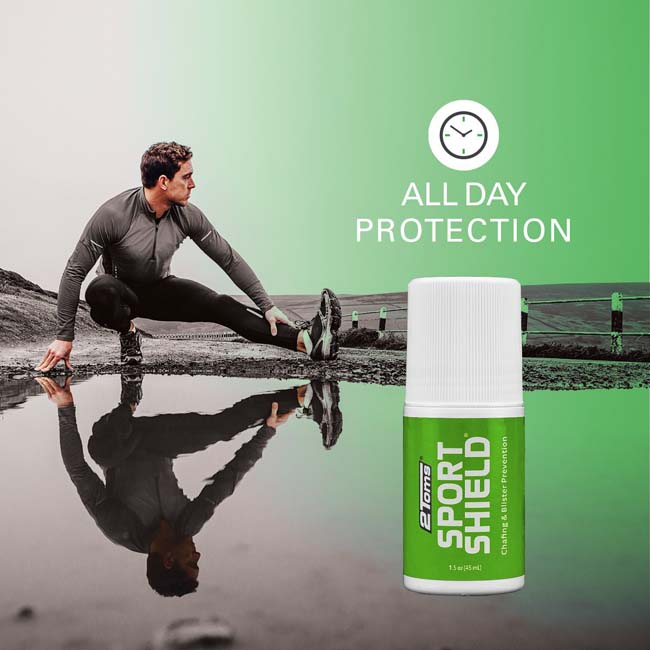 2Toms Sportshield Roll-On Prevents Blisters and Chafing