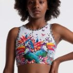 Girls cropped singlet by Sylvia P activewear